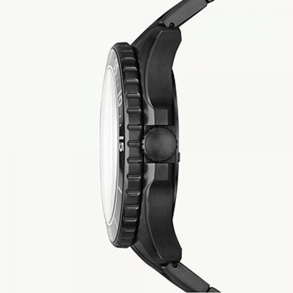Montre FB-02 à trois aiguilles avec date en acier inoxydable noir Sku:FS5688