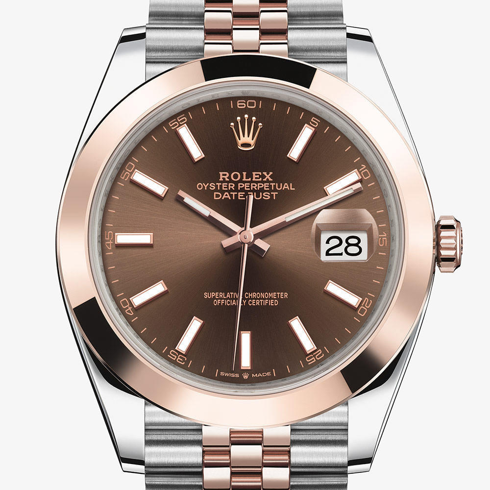 Rolex OYSTER PERPETUAL Datejust 41 Oyster, 41 mm, Oystersteel and Everose gold M126301-0002