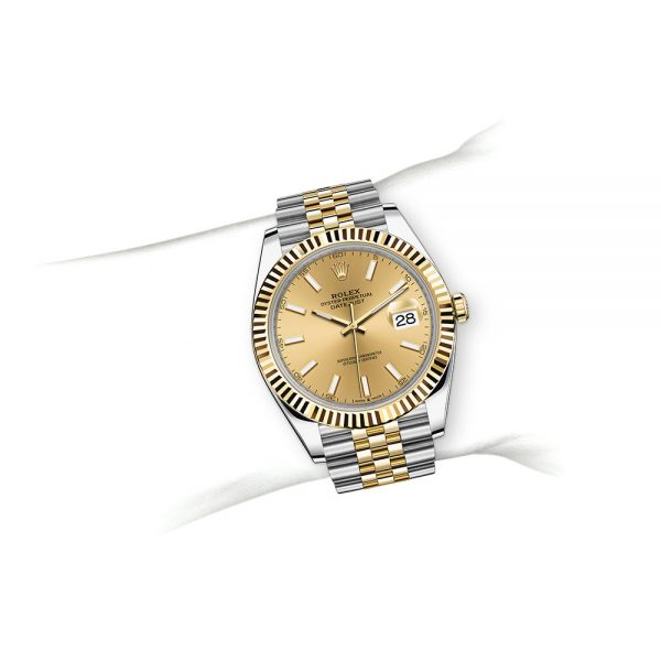 Rolex OYSTER PERPETUAL Datejust 41 Oyster, 41 mm, Oystersteel and yellow gold M126333-0010