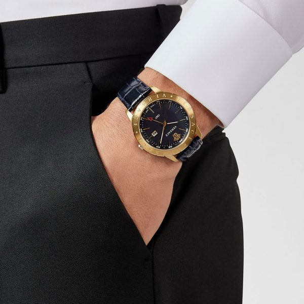 Versace montre homme UNIVERS EN CUIR BLEU - PVEBK003-P0018_RTU_TU_PNUL