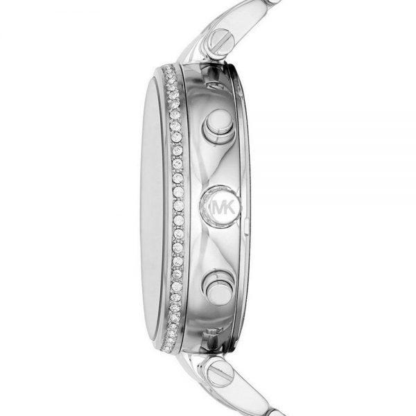 Michael Kors Sawyer Silver Crystal Pave Dial montre femme MK6281