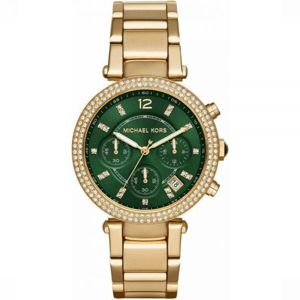 Michael Kors Parker Green Dial Chronograph MONTRE FEMME MK6263