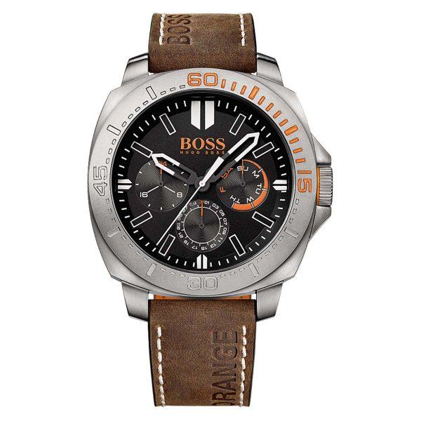 Montre Homme Boss Orange Bracelet Cuir Marron - 1513297