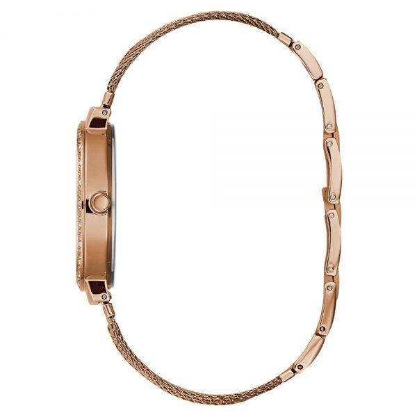 Guess Montre Femme Analogique Chiffon avec Bracelet en Acier Inoxydable - W1083L3