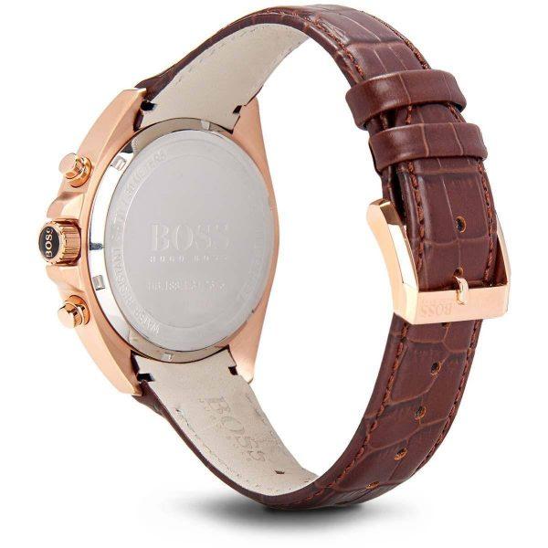 Montre Homme Hugo Boss Ambassador bracelet brun en cuir - 1513036