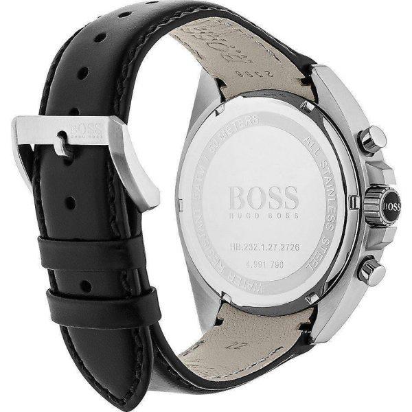 Hugo Boss Veste de Montre à Quartz en Cuir Noir - 1513085