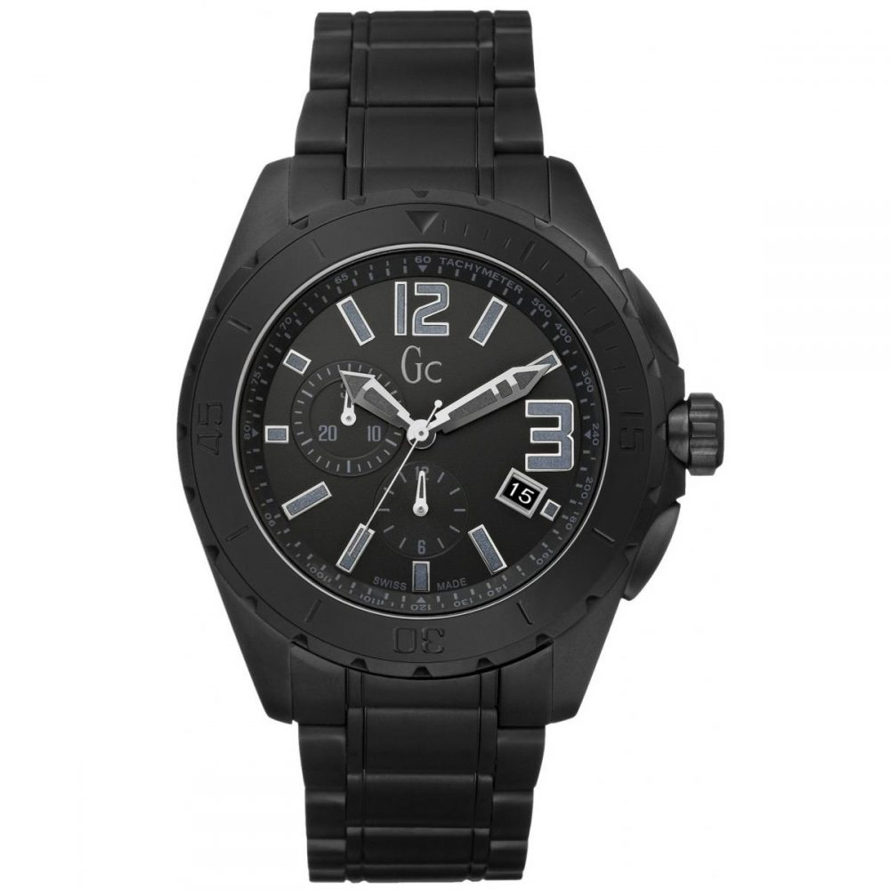 Montre GC. Montre Sport Noire Céramique Homme - X76011G2S