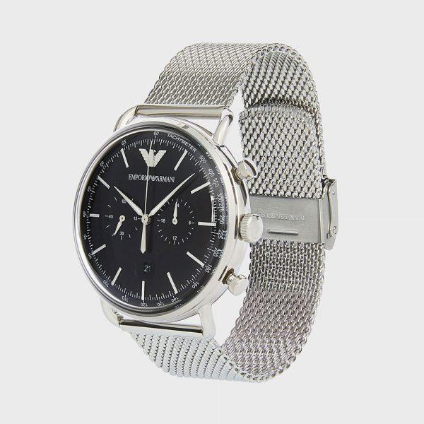 EMPORIO ARMANI montre pour homme Cronographe en acier inoxydable - AR11104