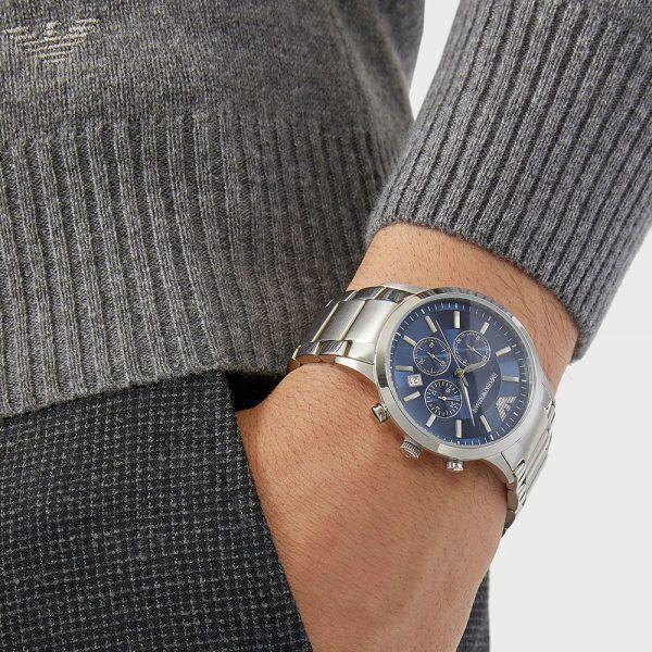 EMPORIO ARMANI montre pour homme Cronographe en acier inoxydable - AR2448