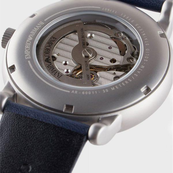 EMPORIO ARMANI montre automatique pour homme en cuir - AR60011