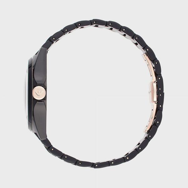 EMPORIO ARMANI montre pour homme en céramique noire à trois aiguilles - AR70003