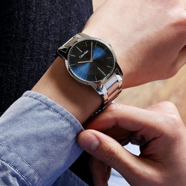 Calvin Klein montre pour homme City cadran bleu en acier - K2G2G1ZN