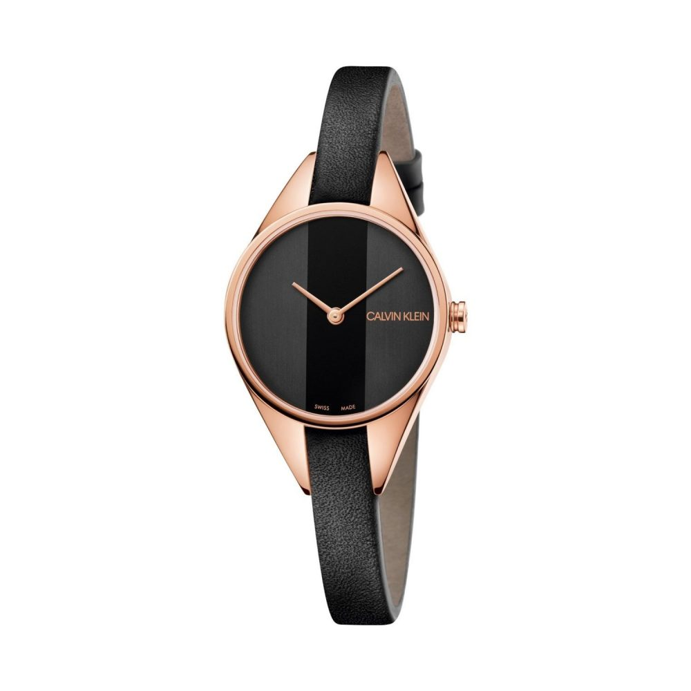 Calvin Klein Quartz montre pour femme avec Bracelet en Cuir - K8P236C1
