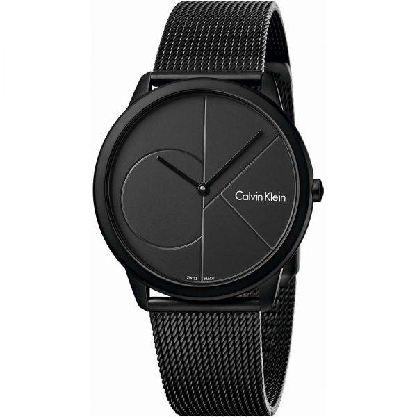 CALVIN KLEIN montre pour homme Minimal Black Steel Mesh Bracelet - K3M514B1